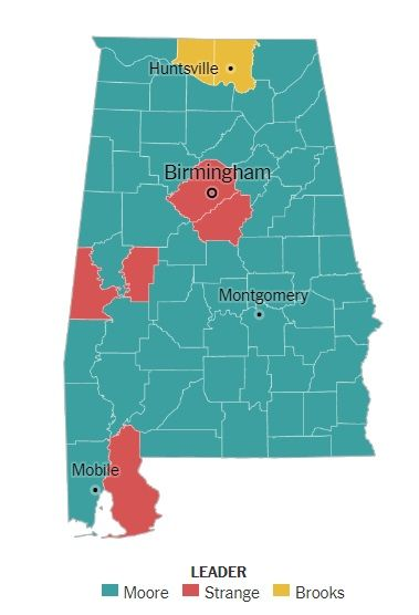 In last month's U.S. Senate special election Republican primary, former Alabama Supreme Court Chief Justice Roy Moore showed he was able to win in every corner of Alabama, unlike the field's other top competitors, Rep. Mo Brooks and Sen. Luther Strange. If those results are indicative of where...
