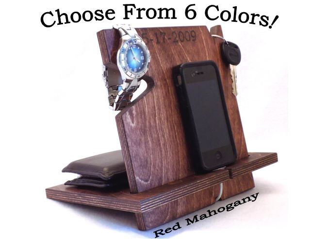 Personalized Graduation Gift For Him, Christmas Gifts For Him, Docking Station by PalmettoWoodShopLLC on Etsy https://www.etsy.com/listing/221962006/personalized-graduation-gift-for-him