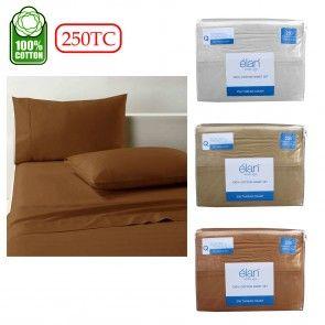 250TC Cotton Elan Sheet Set Queen