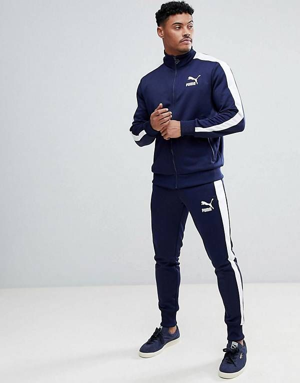 Puma Archive T7 Tracksuit in Navy | Garde Robe in 2019