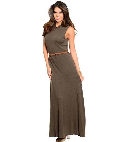 Love On Top Dark Olive Maxi Dress AUD$48.30 + Free express shipping