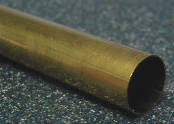 Seamless brass telescoping small diameter tubing and
