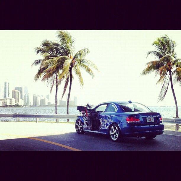 """producing #keybiscayne beach #miami filming BMW camera rig #nbc #telemundo"" by @TheRealACoN"