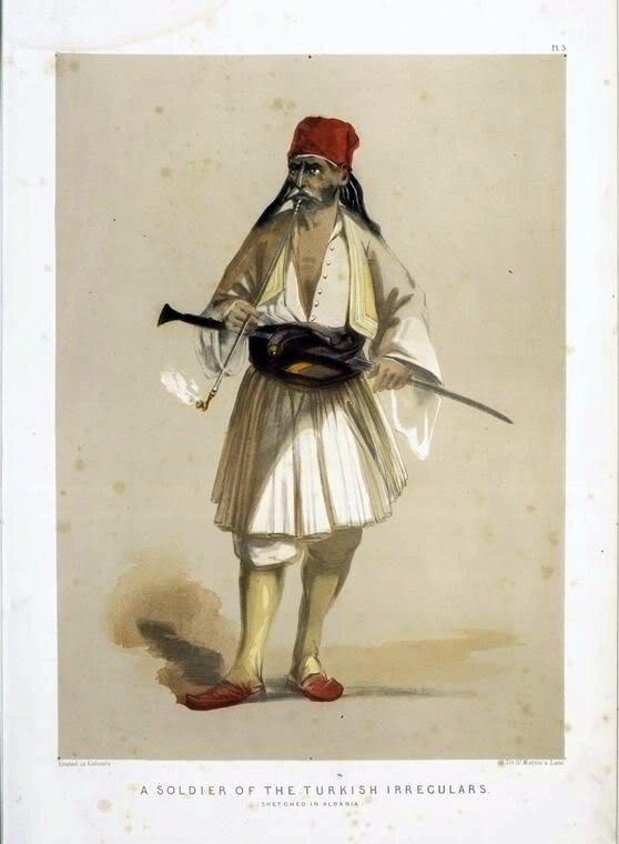 Albanian soldier of the Ottoman army.