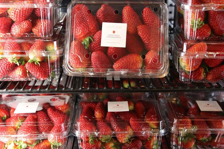 Our first Strawberries of the season have made their way into the fridge! Needless to say, as soon as they're going in they're coming out. Get in quick!  #Beerenberg #BeerenbergFarm #Strawberries #BeerenbergStrawberryFarm #PickMe #PickMeBeerenberg