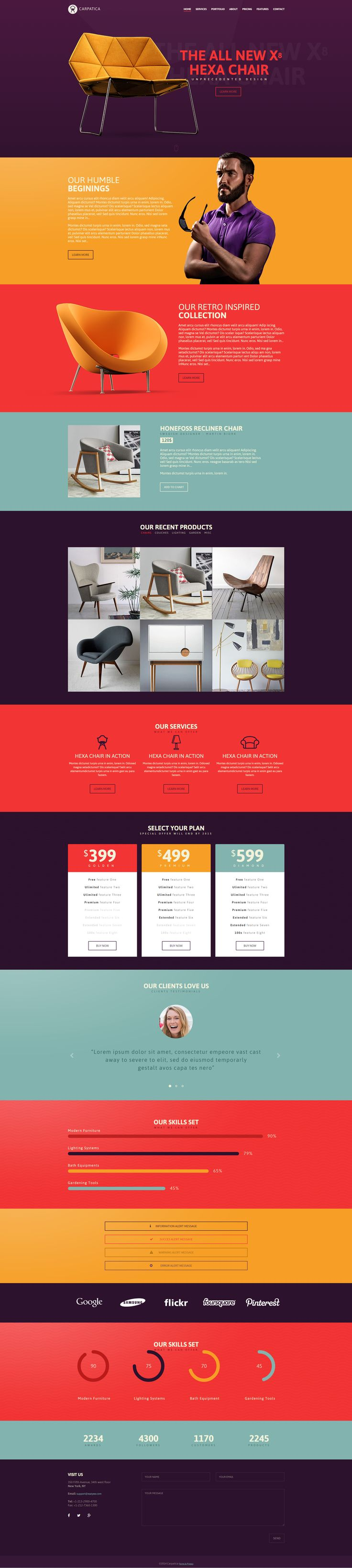 Carpatica OnePage Template by eazyee on @creativemarket