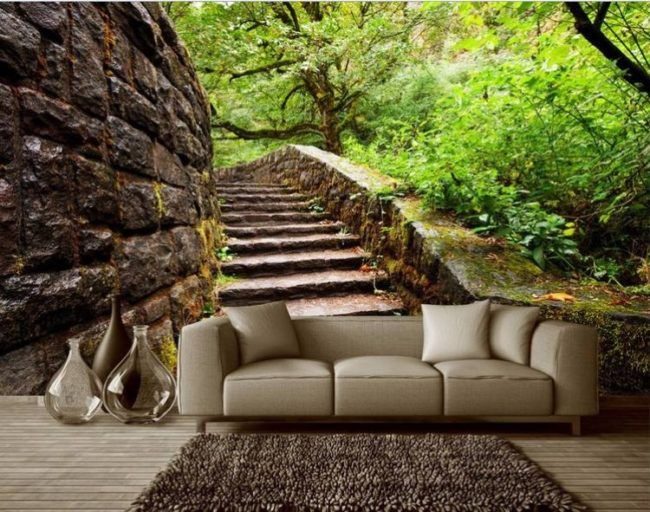 Photo Wallpaper Wall Murals Bench Space Setting Pics Photos For Cheap Borders
