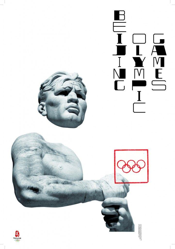 Olimpicgames Плакат «Пекинские Олимпийские игры». 2006 Плакат сделан для международной выставки, посвященной Олимпиаде в Пекине. На плакате – выступающая из белого листа скульптура со стадиона Марми в Риме, открытого в 1932 году. Стадион, называющийся сегодня «Foro Оlimpico», раньше был известен как «Foro Mussolini». Его статуи представляют собой типичный образец искусства итальянского фашизма, использовавшего спорт и Олимпийские игры для политической пропаганды. По мысли Сонноли, Олимпиады…