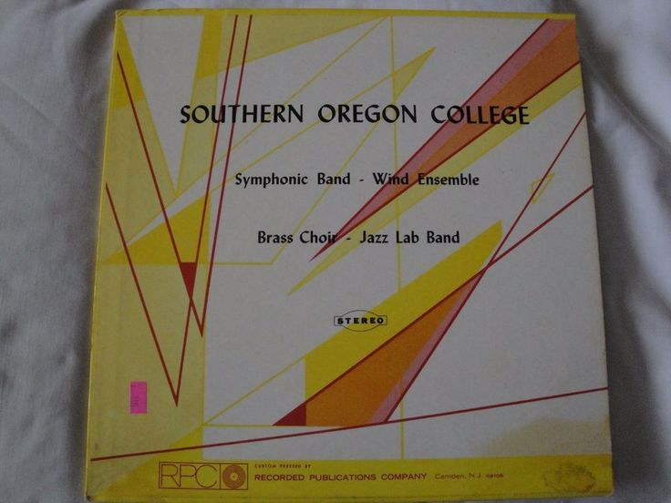 Southern Oregon College Symphonic Band and Wind Ensemble M. Max McKee, Conductor #BigBandSwingContemporaryJazzDixielandJazzInstrumentJazzPopJazzRock