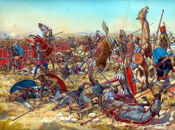 The Battle of Nisibis 217 AD (Romans vs. Parthians)
