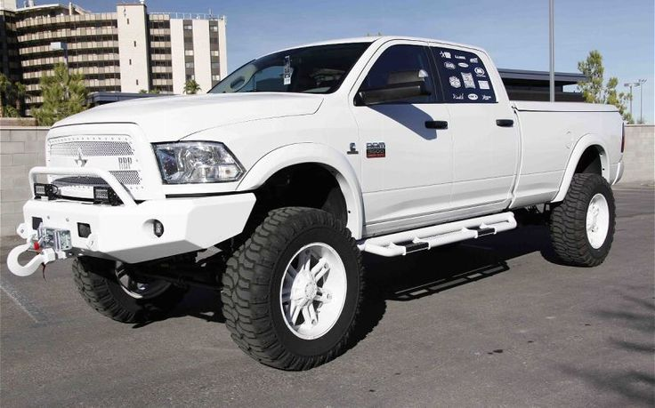 Lifted White Dodge Ram