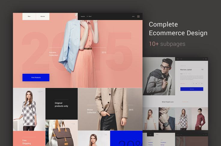 Fashion Store Template by Jaromir Kveton on @creativemarket