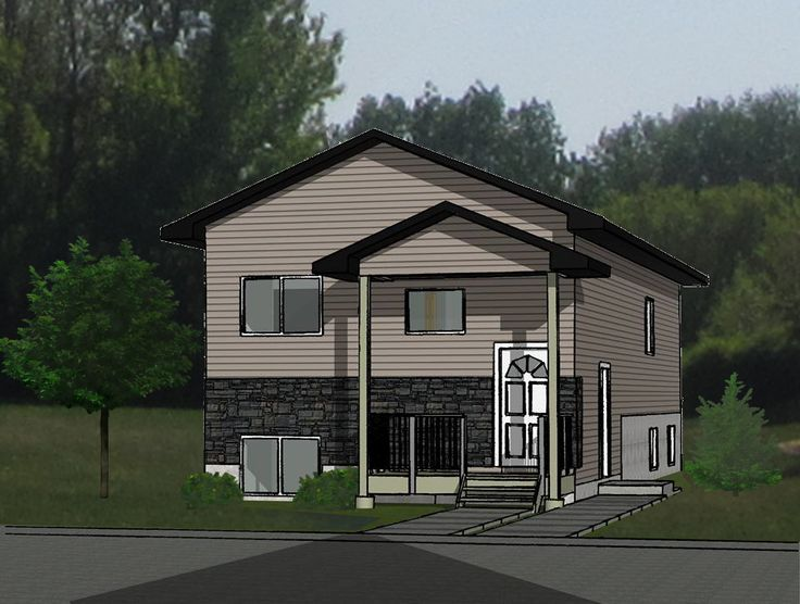 Houses For Sale In Saskatoon With Basement Suite Part - 35: 3D RENDERINGS Small Bi-Level Home With Side-entry Basement Suite. Concept  Plans