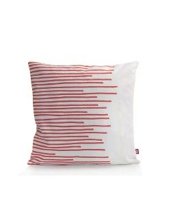 www.popsiclestuff.nl | pillow MAKE  MY DAY, pattern Stripes, white and coral