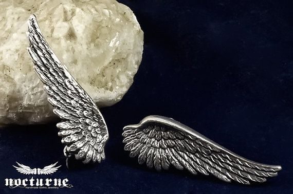 Clip On Angel Wing Earrings  Victorian by NocturneHandcrafts, €26.00