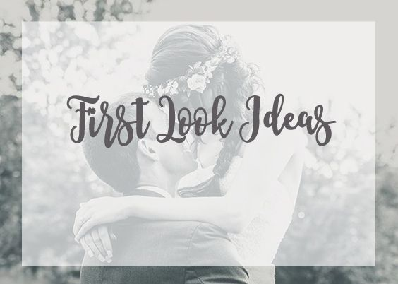 Wedding first look photo ideas from today's bride