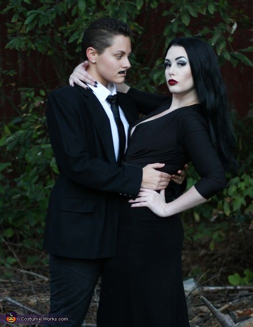 Lauren: This is my girl and I dressing as Morticia and Gomez Addams. It was a very simple costume yet so much fun!.