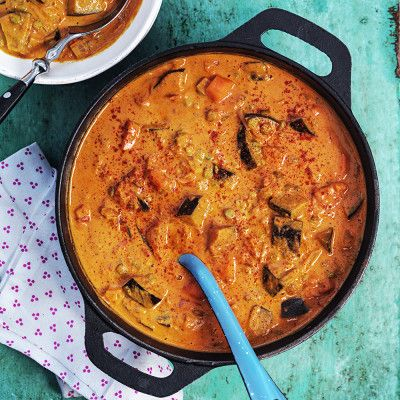 Linsgryta med aubergine (Coop)