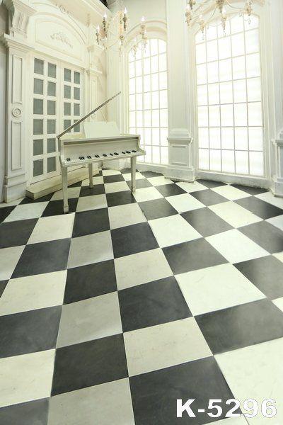Белый Фортепиано Реквизит Европа Стиль Дома Фотография 5x7ft Крытый Фона Ткань Черный И Белый Пол Фон Для Свадьбы