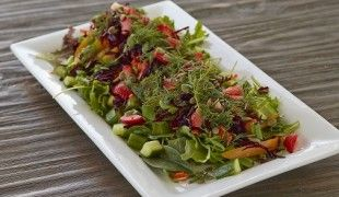 If you are a vegan or vegetarian feel free to keep out the chicken breast! This salad is so comforting for winter and full of amazing nutrition and beautiful color. Enjoy!  More Here > http://amberapproved.ca/roasted-red-pepper-beet-salad/