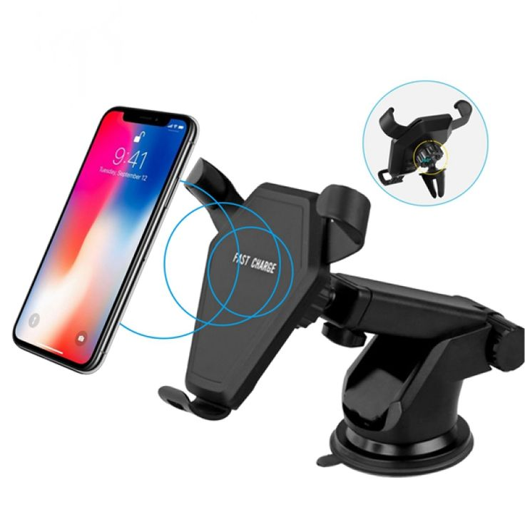 We′d like to share this High-strength Mobile Phone Support Holder Qi Wireless Charger with you! As the name implies, it acts as a mount holder as well as a charger. Adopting premium engineering plastic material, this item is lightweight yet durable in use. It is highly compatible with 4 to 6 inches iOS and Android cellphones. With fast charging and easy operating, this charger will bring you much convenience. It offers a stable support to your phone, preventing it from falling down. Really a…