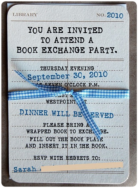 Book Swap Party Invite