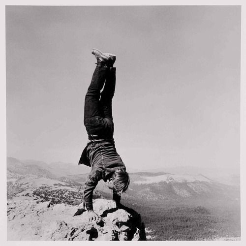 """© Robert Kinmont, 1969, """"8 Natural Handstands"""" (detail) --- This photograph is part of the exhibition """"Ends of the Earth — Land Art to 1974"""" at Haus der Kunst in Munich, Germany. --- Oct. 11, 2012 – Jan. 20, 2013 #exhibition #landart #art #handstand #munich #germany #münchen"""
