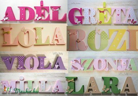 Betű 20 cm, Dekoráció, Baba-mama-gyerek, Gyerekszoba, Baba falikép, Meska