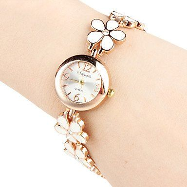 Yodee! Women's Quartz Analog Flower Style Alloy Band Bracelet Watch (Assorted Colors) 39% Off -- Learn more by visiting the image link. (This is an Amazon Affiliate link and I receive a commission for the sales)