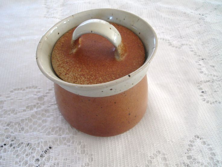 Sial Pottery Sugar Dish Made in Canada 70s by LoukiesWorld on Etsy