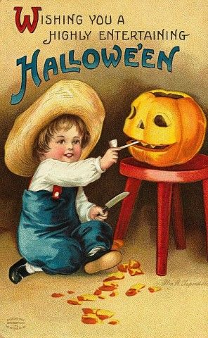 Antique Clapsaddle Halloween postcard