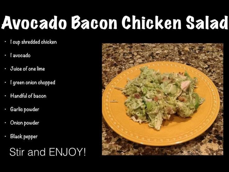 Avocado Bacon Salad #PaleoBelle