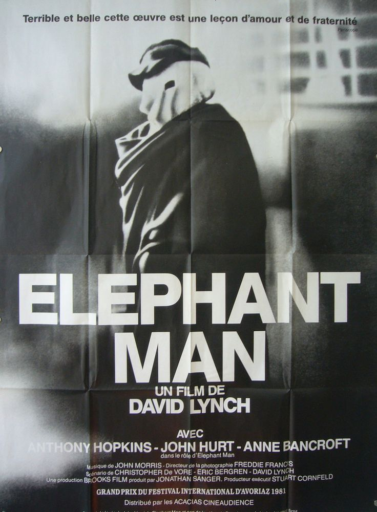 1980 Original French Film Poster, Elephant Man #affiche-de-cinema # ...