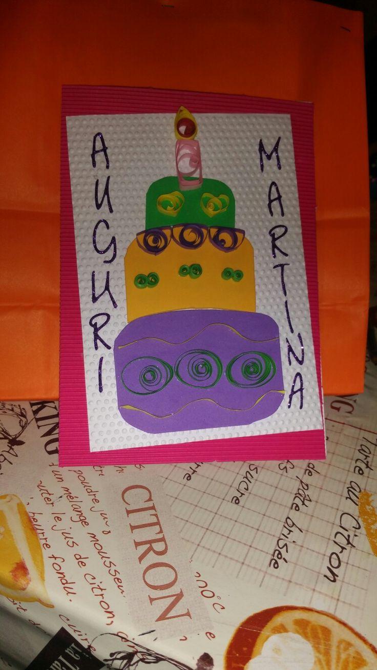 birthday card biglietto compleanno torta cake