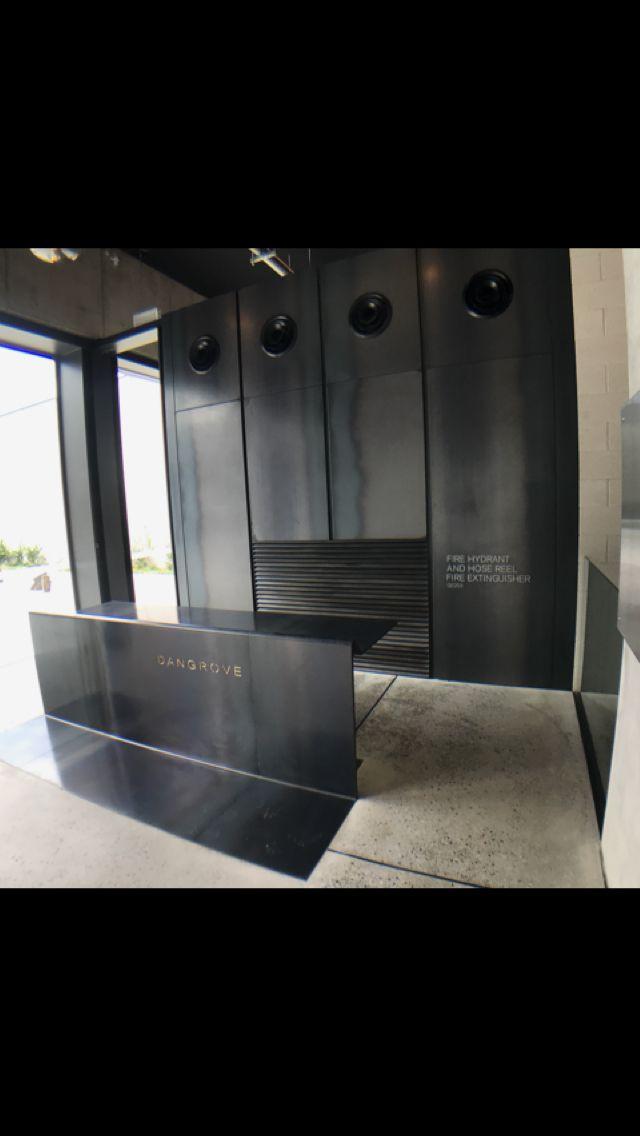 Black Steel Reception Desk Byvincenzo Com Steel Reception Desk Reception Desk Black Black Reception Desk