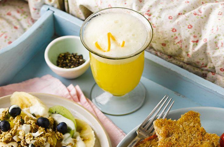 Orange sherbet breakfast punch recipe