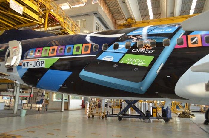 The Jet Airways Nokia Lumia aircraft wrap