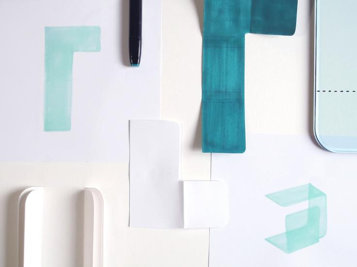 'Foulard' design Studio Klass for FIAM Italia - Paper mock-up
