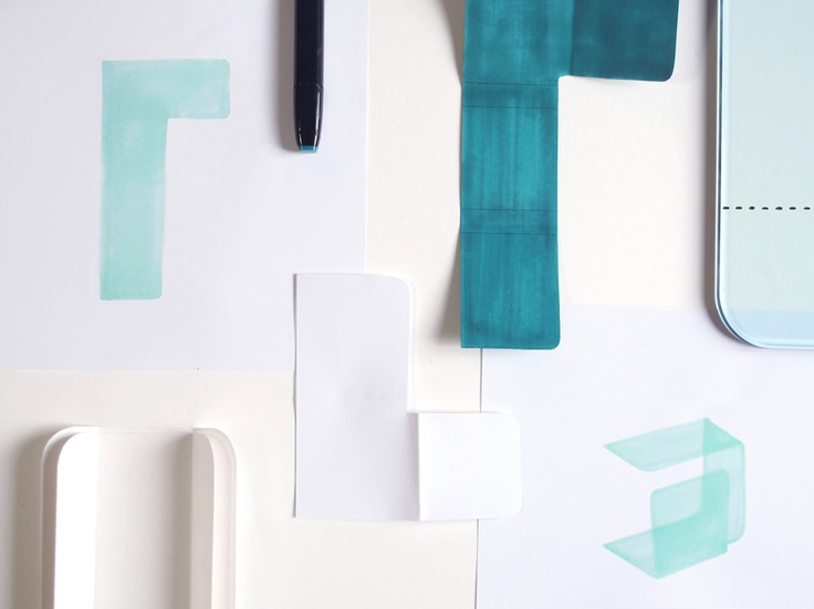 'Foulard' design Studio Klass for FIAM Italia - Paper mock-up