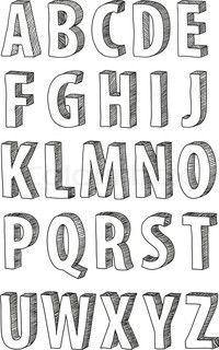 Vector Of Doodle Font Alphabet Art Doodles Love Letters