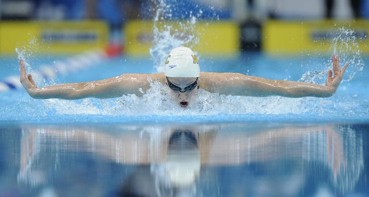 Katie Hoff swims to victory in the women's 400-meter individual medley finals at the US Olympic swimming trials in Omaha, Nebraska, Sunday, June 29, 2008. Hoff set a new world record time of 4:31.12 in the event.