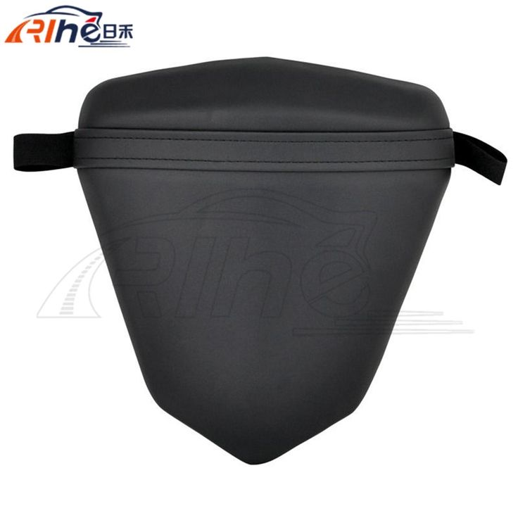 71.98$  Buy now - http://alir81.worldwells.pw/go.php?t=32473613076 - brand new motorbike accessories passenger rear back seat black synthetic leather cushion pillion For yamaha R6 2003 2004 2005