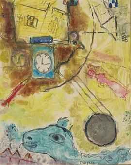 Marc Chagall - La Pendule