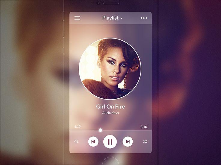 iOS7 Music Player by Stan Mayorov