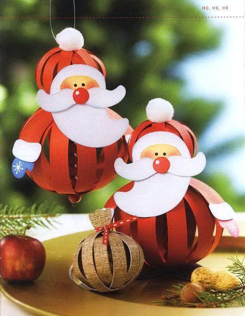 ДЕД МОРОЗ - Игрушка на елку своими руками, Поделка, Подарок к Рождеству, Новому году в технике бумажных шаров