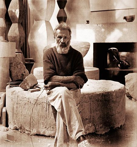 Constantin Brancusi, Romanian artist, Christian sculptor, born Hobita, Gorj county, Romania #spiritual #legacy #Romanian #village #life #town #Hobita  #Gorj #County #schools #young #artist #Arts #Crafts #Craiova #scholarship #minister #Church #FineArts #Bucharest #BustofVitellius #HeadofLaocoon #French #painter #MarcelDuchamp #Brummer #Gallery #NewYork #doctor #DimitrieGerota  #École #nationale #supérieure #BeauxArts #Paris #Holy #Archangels #Michael  #Gabriel #studio #photographs…