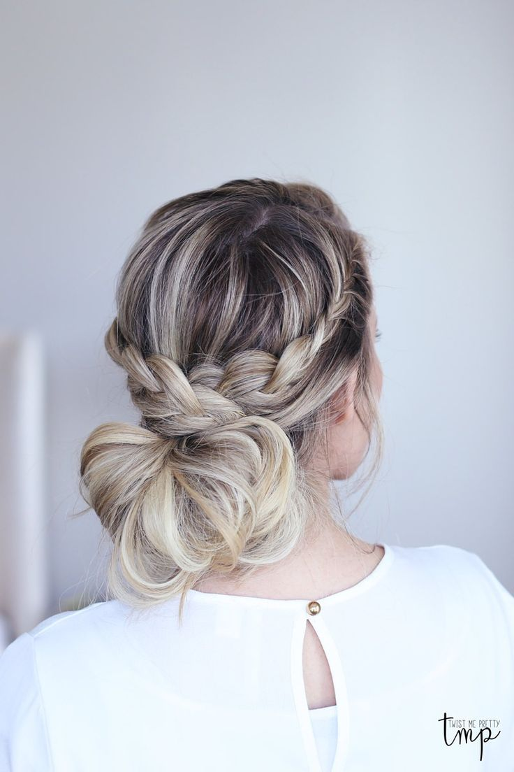 179 besten Hairstyle Inspiration Bilder auf Pinterest   Frisur     A beautiful laced braid updo  a stylish look for a wedding for a summer  event