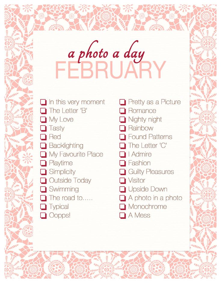A Photo A Day ~ February Checklist | Akemi Photography  #Project365 #APhotoADay #ForTheFamiliographer