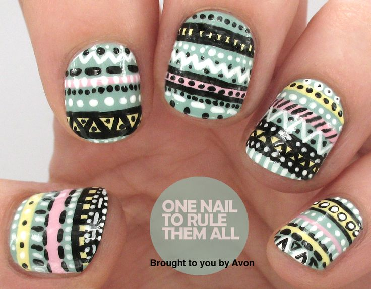 One Nail To Rule Them All: Tribal Nail Art for Avon + Tutorial