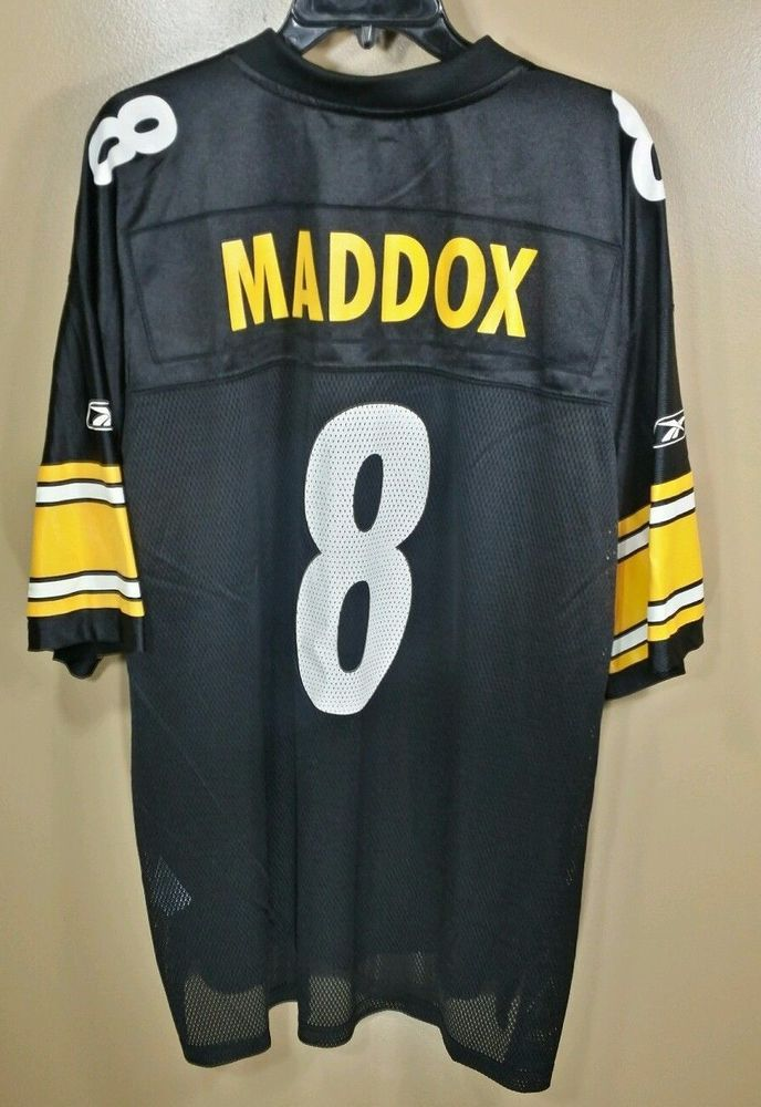 Tommy Maddox Pittsburgh Steelers # 8 NFL On Field Football Jersey X- Large #Reebok #PittsburghSteelers